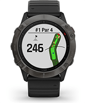 fēnix 6X Pro Solar con la pantalla de campo de golf