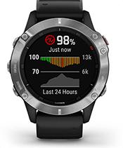 fēnix 6 con la schermata del sensore pulse ox