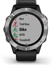 fēnix 6 con schermata delle app per lo sport