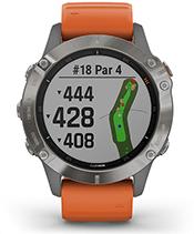 fēnix 6 Pro y Zafiro con la pantalla de campo de golf