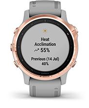 fēnix 6S Pro & Sapphire with performance metrics screen