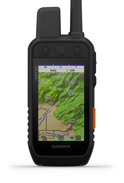 Alpha 200i handheld with maps screen