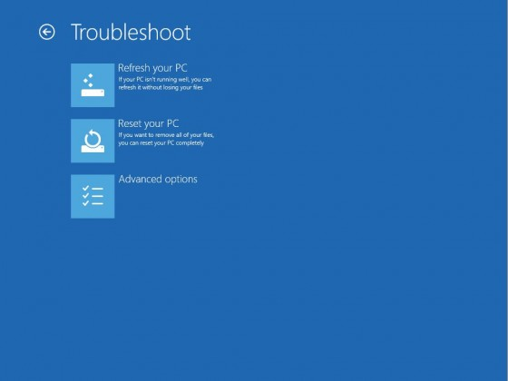3 - Troubleshoot screen
