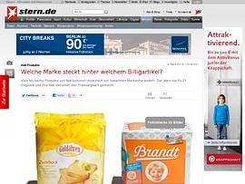 Stern De Zeigt Marken Hinter Billig Produkten Von Aldi