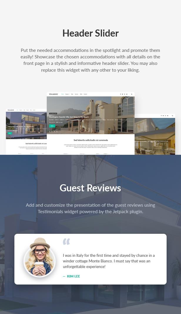Vacation Rental WordPress Theme - Villagio - 8