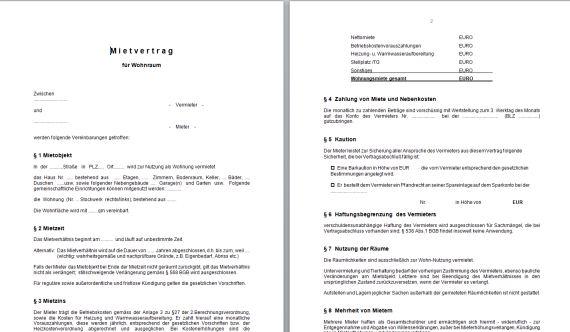 Mietvertrag Muster 8