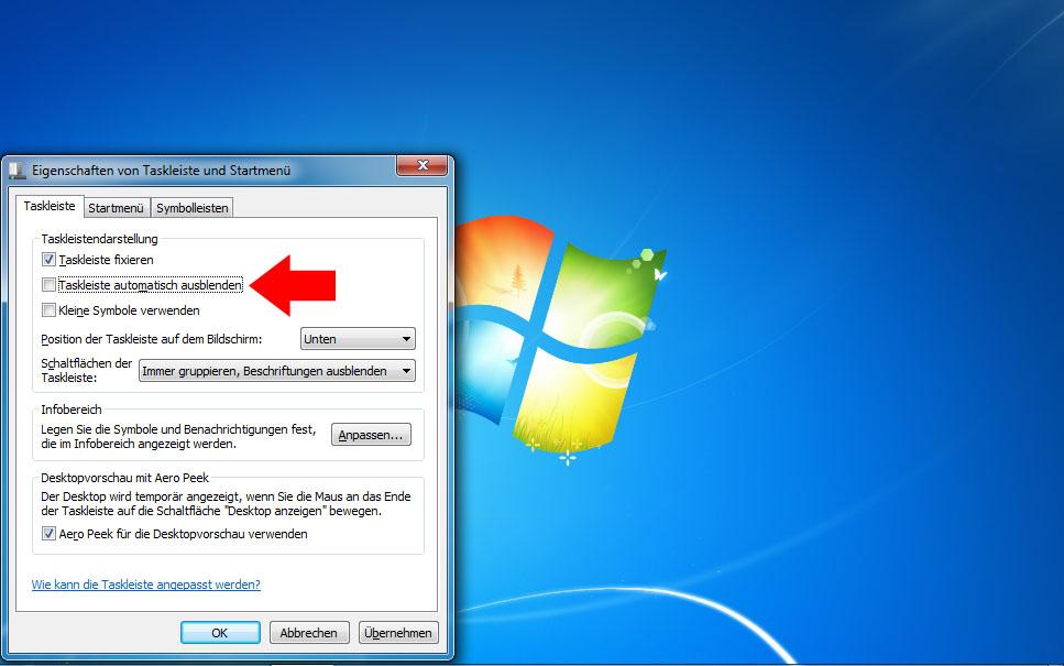 Taskleiste Weg Windows Was Tun