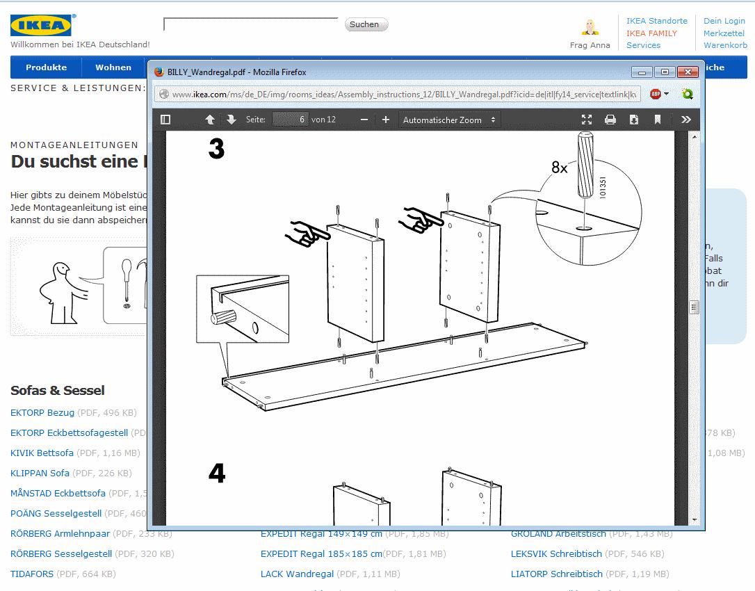 Ikea Anleitungen Online Fur Schrank Tisch Und Co Als Download Und Pdf Zum Ausdrucken