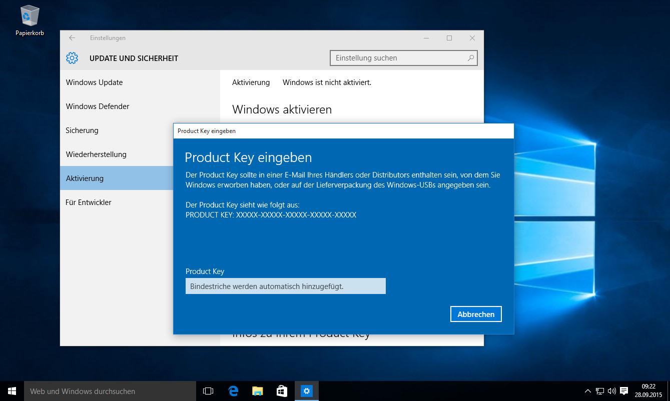 Windows 10 Key Wann Muss Ich Die Seriennummer Eingeben