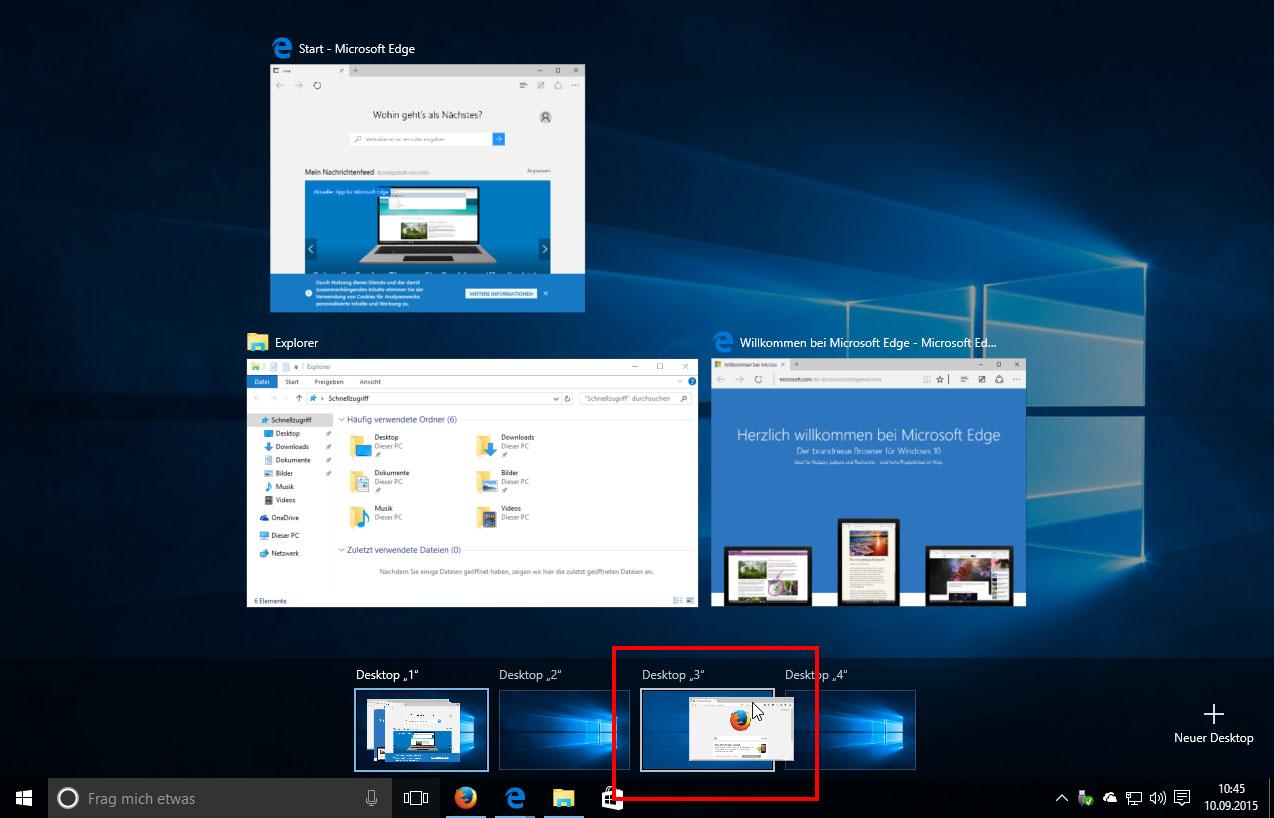 Windows 10 Multiple Virtuelle Desktops Richtig Nutzen So Geht S
