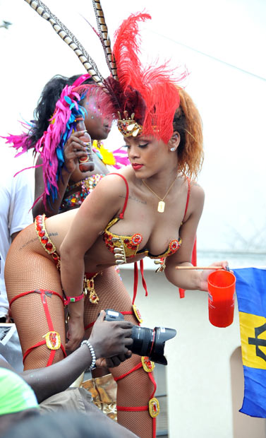 Rihanna strips to bikini Kadooment Day In Barbados
