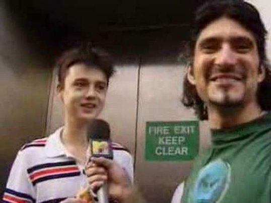 We wouldn't have this picture of Pete Doherty: Long before he was troubling tabloids and injecting himself with all kinds of junk, the former Libertine was just a bright-eyed, wee Oasis fan. Here he is being interviewed by MTV while in the queue for Be Here Now. When asked his opinion on the band, he replied: