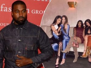 Kanye West and his ex-sisters