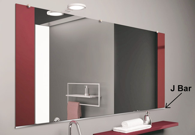 J Bar Mirror Support Dulles Glass And Mirror