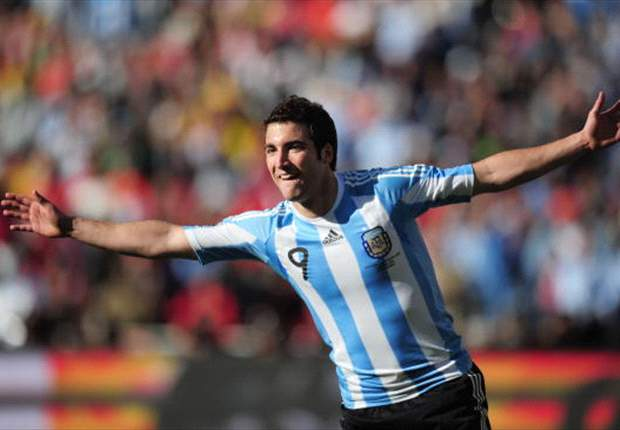Image result for higuain hat trick world cup