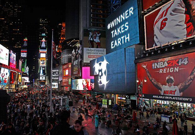 Mysteriöse Botschaften auf dem Times Square