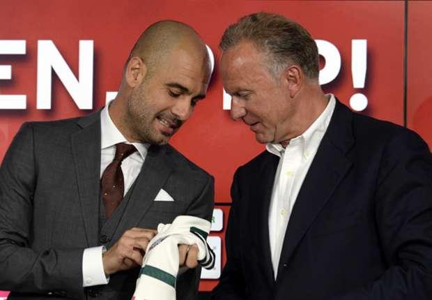 Guardiola e Rummenigge, lado a lado em prol do Bayern