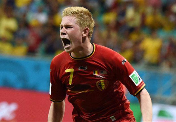 Belgium 2-1 USA (AET): De Bruyne and Lukaku book quarter-final date