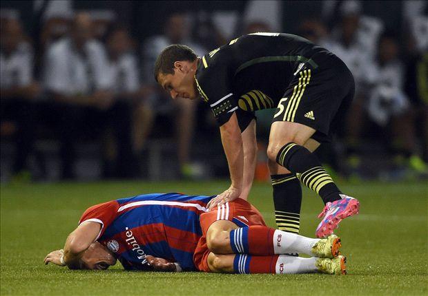 Jogador sentiu pancada em amistoso contra o MLS All-Star