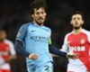 David Silva playing for Manchester City in the Champions League