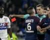 PSG midfielder Marco Verratti and referee Clement Turpin