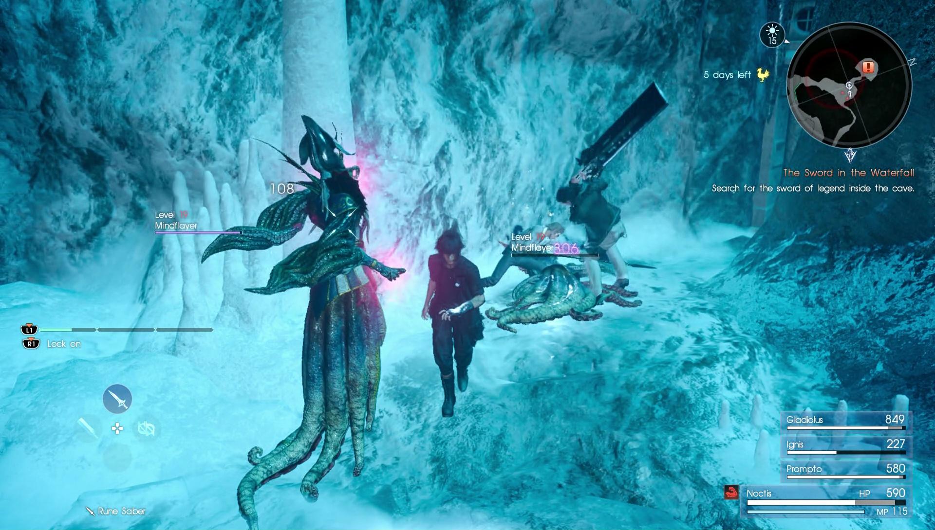 FFXV Greyshire Glacial Grotto Dungeon Walkthrough