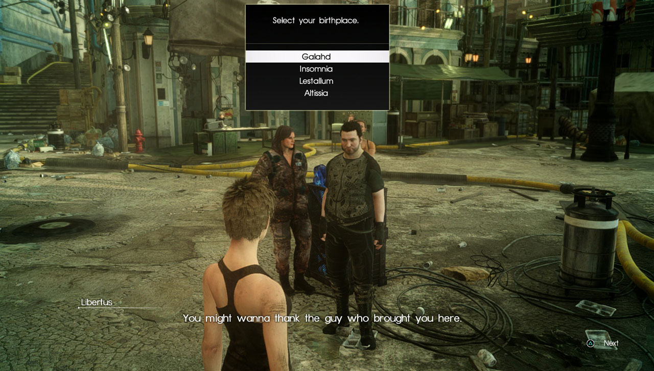 FFXV Comrades Best Birthplace Which To Select