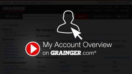 My Account Overview   Grainger Industrial Supply