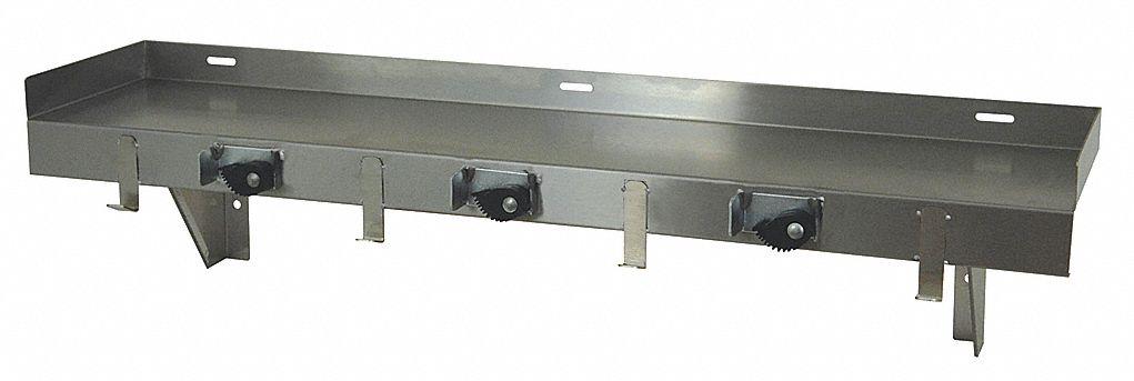 stainless steel mop sink utility shelf