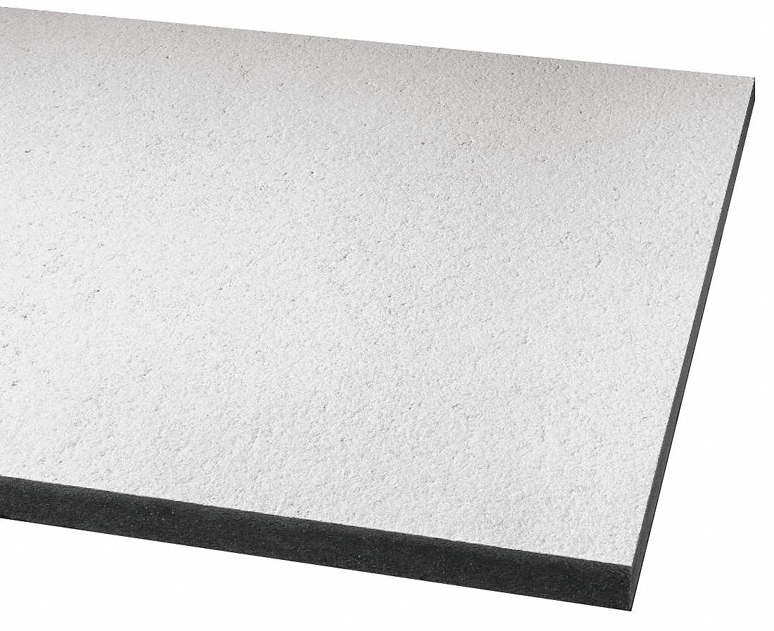 ceiling tile width 24 in length 48 in 5 8 in thickness mineral fiber pk 6