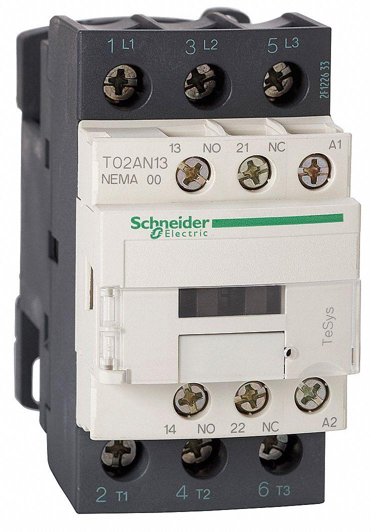 SCHNEIDER ELECTRIC 240VAC NEMA Magnetic Contactor No Of Poles 3 Reversing No 9 Full Load