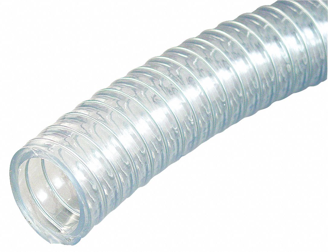 GRAINGER APPROVED PVC With Wire Helix Reinforced Tubing SAE 2 Inside Dia 2 2564 Outside