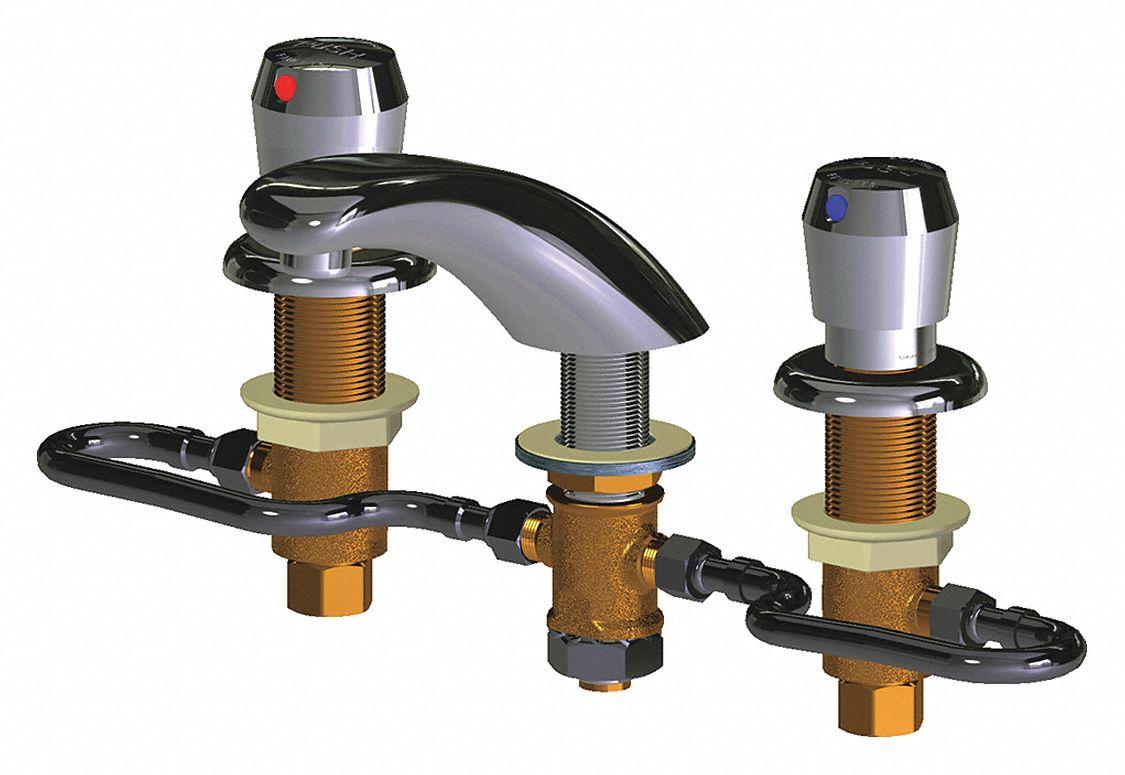 chrome low arc bathroom sink faucet manual faucet activation 2 2 gpm