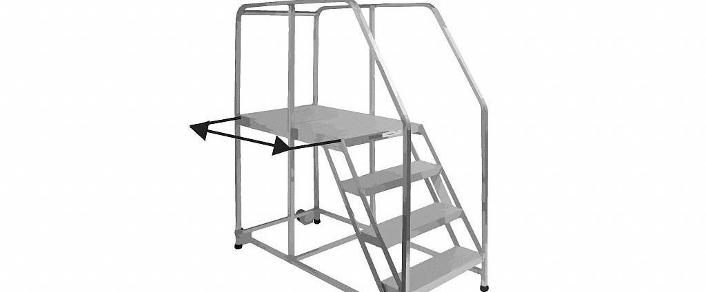 Work Platforms Grainger Industrial Supply   Portable Steps With Handrail   3 Step   Free Standing   Camper   Stair   Safety Step Ladder 4 Step