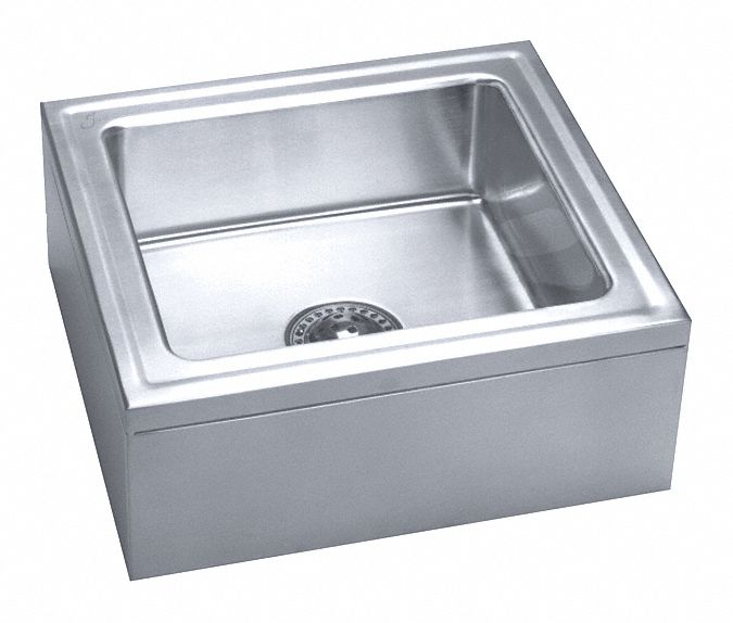 just manufacturing institutional group series 20 in x 18 in stainless steel mop sink