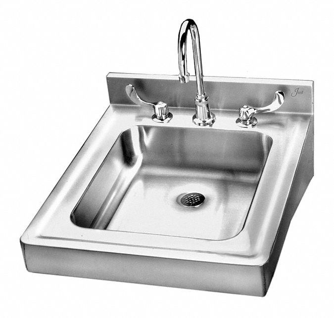 just manufacturing lavatory group series 14 in x 16 in stainless steel bathroom sink
