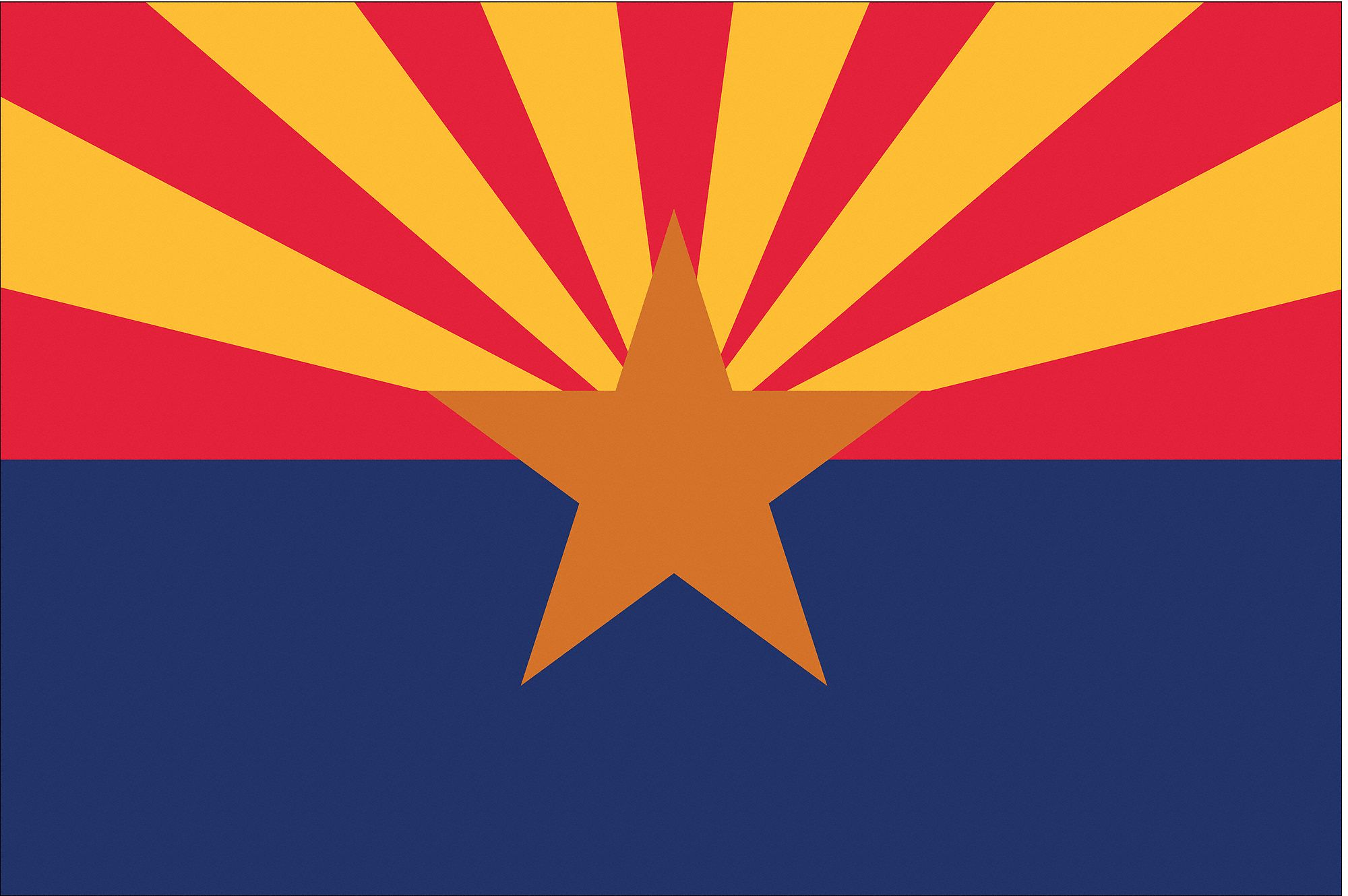 NYLGLO Arizona State Flag 3 FtH X 5 FtW Outdoor
