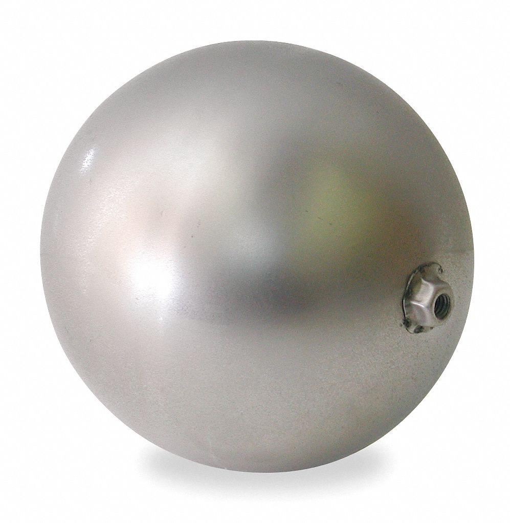 DAYTON Round Float Ball 5 Dia Stainless Steel 2UV53