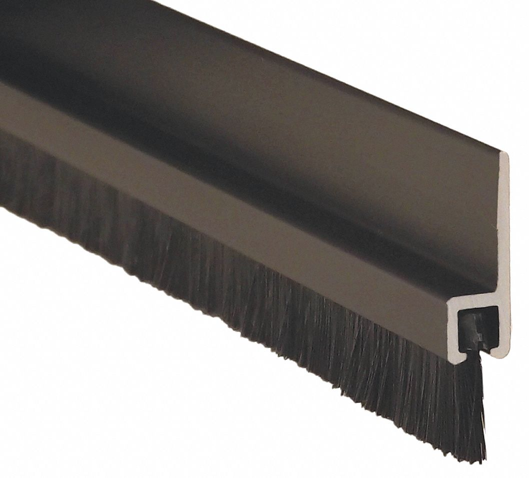Pemko Double Door Weatherstrip Brush 8ft L Blk 38yz91