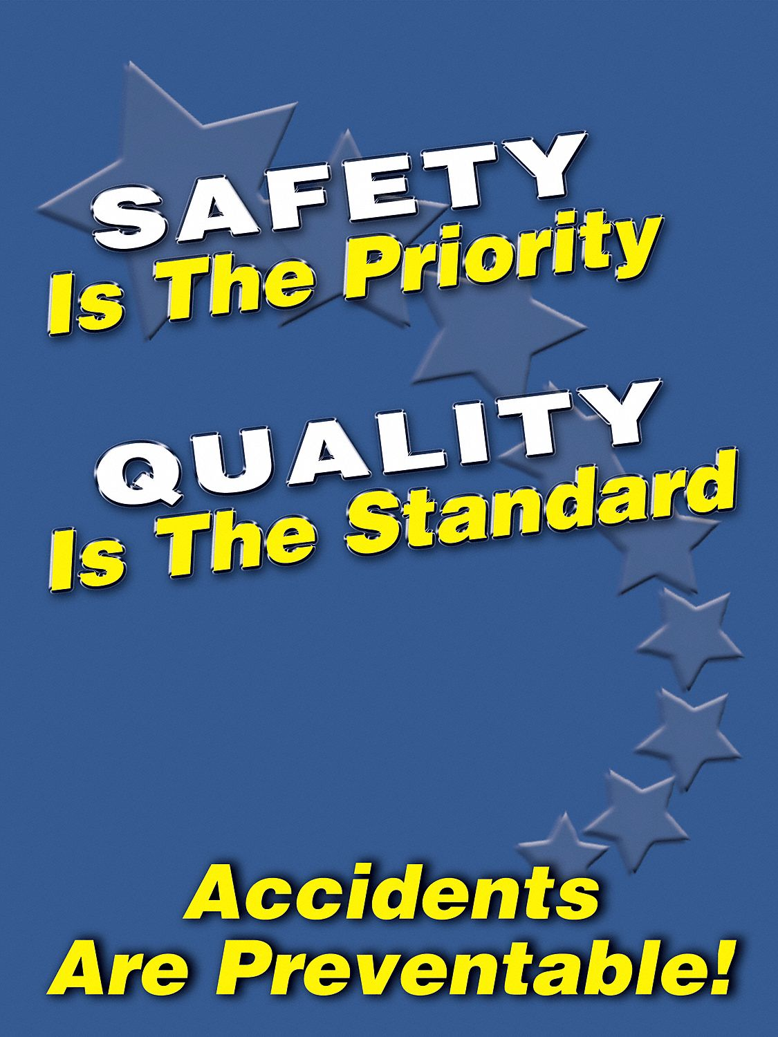 ACCUFORM Safety Poster English 24 X 18 1 EA 3TZE8