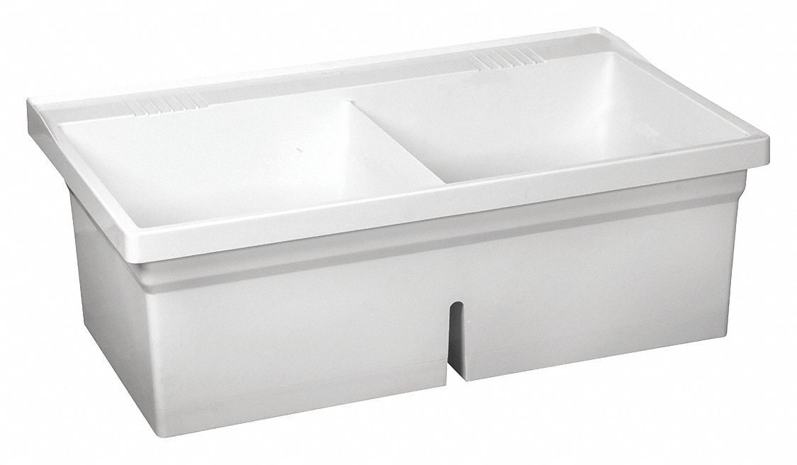 fiat products serv a sink series 18 5 8 in x 18 5 8 in molded stone laundry tub