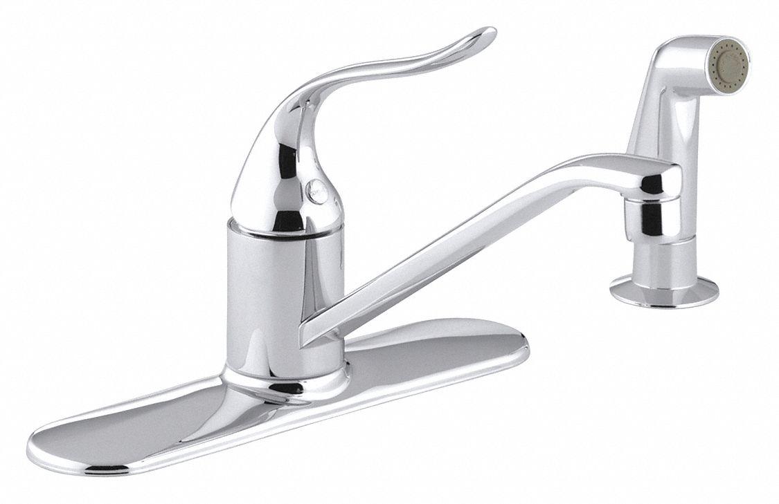 chrome low arc kitchen sink faucet manual faucet activation 2 2 gpm