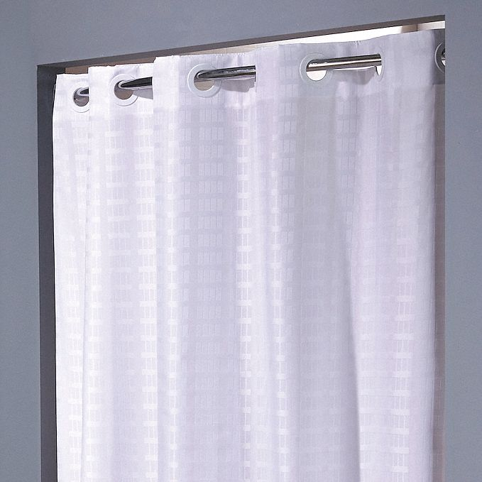 shower curtain white 74 in l 42 in w