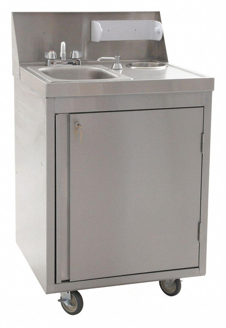 eagle phs series portable hand sink dual manual handle faucet operation no of bowls 1