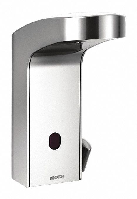 chrome straight bathroom sink faucet motion sensor faucet activation 0 5 gpm
