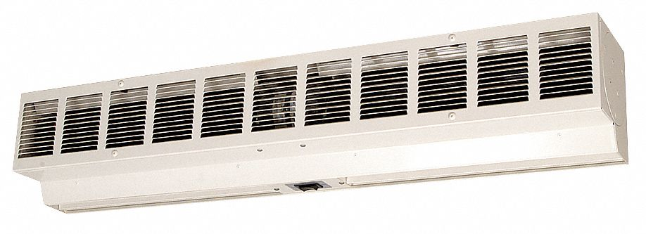 low profile air curtain 4 ft max door width 8 ft max mount ht 66 dba 10 feet 1800 1350 fpm
