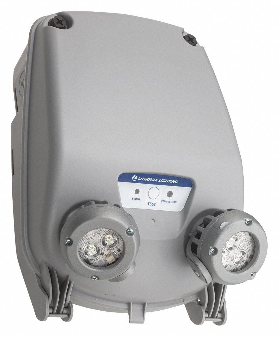 120 347v led emergency light 6 6 ww gray plastic lithium iron phosphate battery chemistry