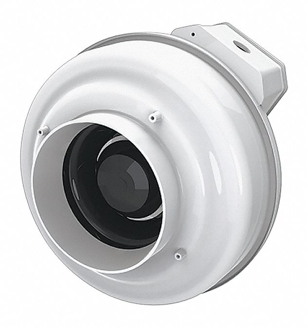 thermoplastic inline centrifugal duct fan fits duct dia 4 in voltage 120v