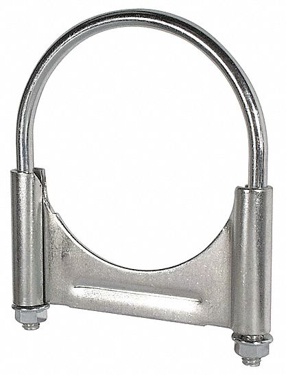 guillotine u bolt steel exhaust clamp for pipe size 4 in pk1