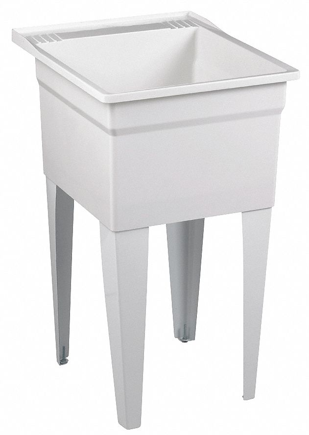 laundry tub fiberglass mix 24 in overall length 20 in overall width 13 3 8 in bowl depth